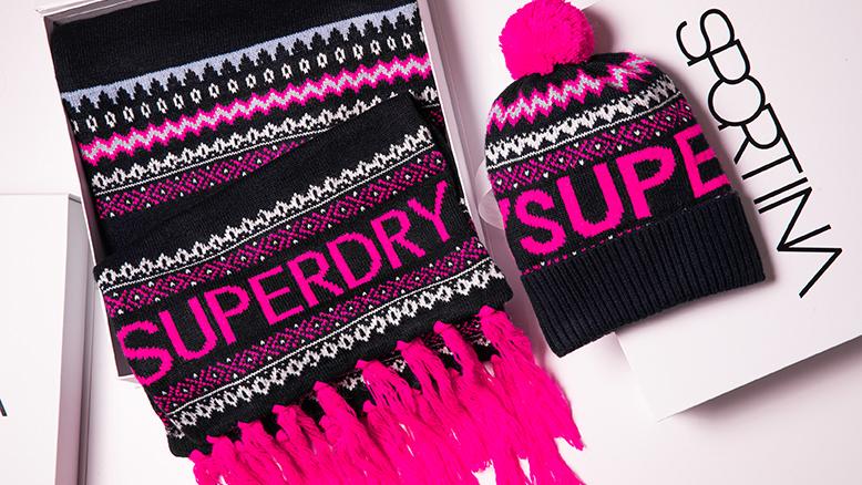 Superdry kapa: 239 hrk; Superdry šal 399 hrk