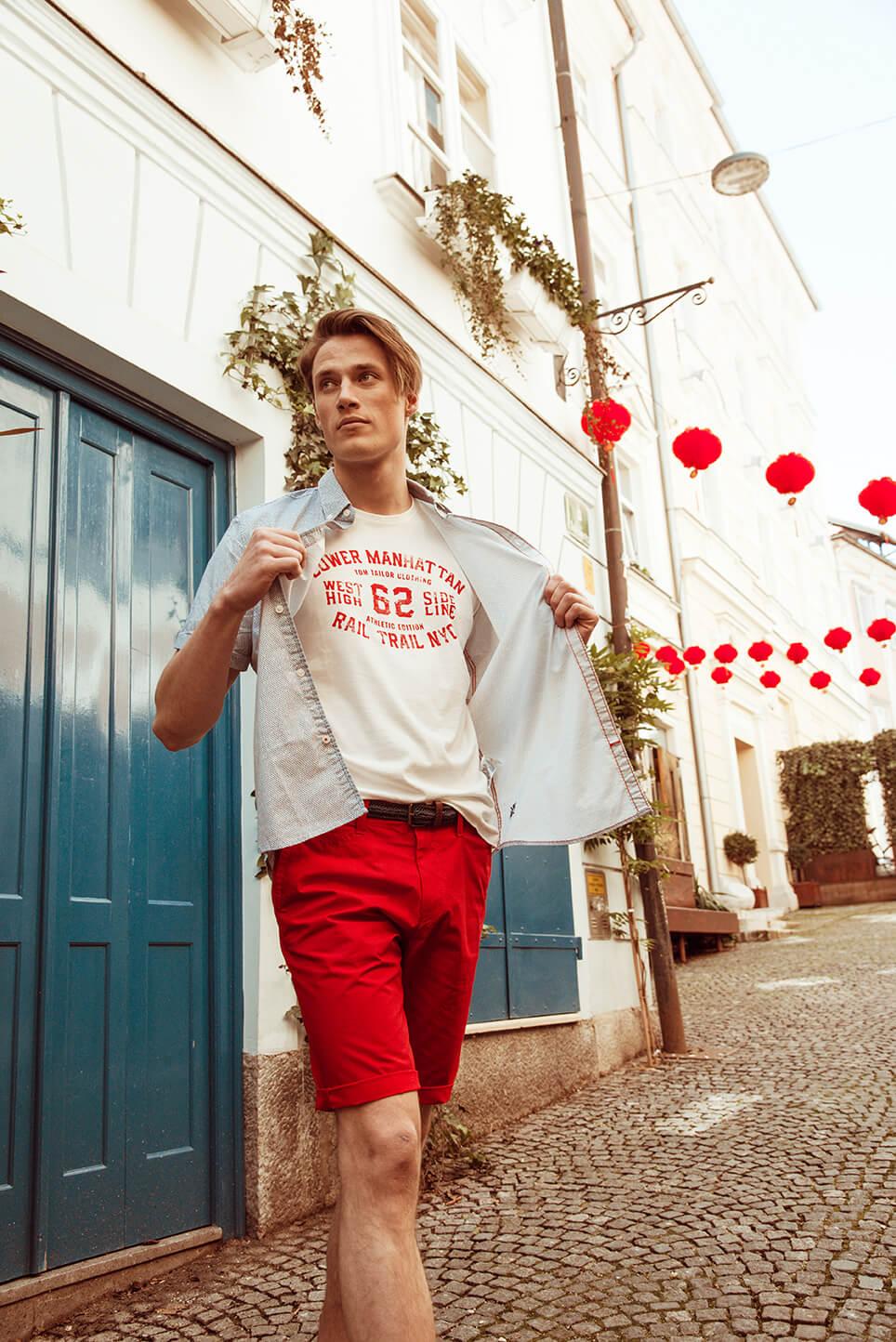 Moški: Majica Tom Tailor  9.09 EUR, Kratke hlače Tom Tailor 23,99 EUR, Srajca Tom Tailor 20,99 EUR