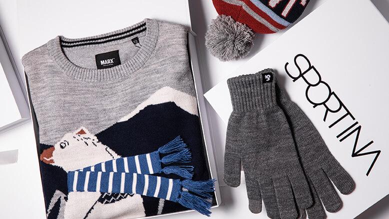 Jack & Jones rukavice 1.999,00 rsd; Jack & Jones kapa 1.999,00 rsd;  Marx džemper 4.999,00 rsd